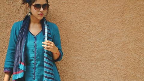 Retro look ft. BIBA and Ahilya Jewels