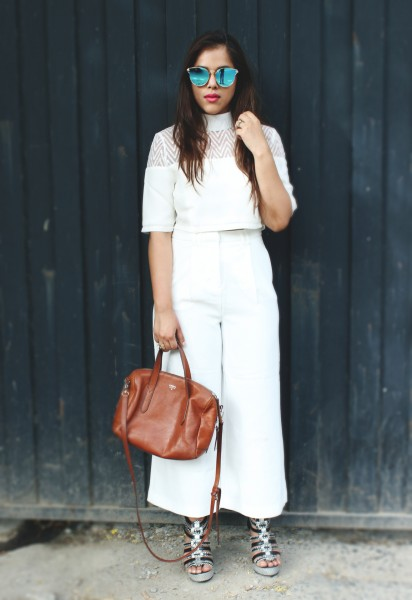 full white outfit