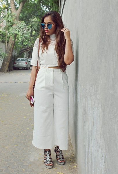 white ensemble
