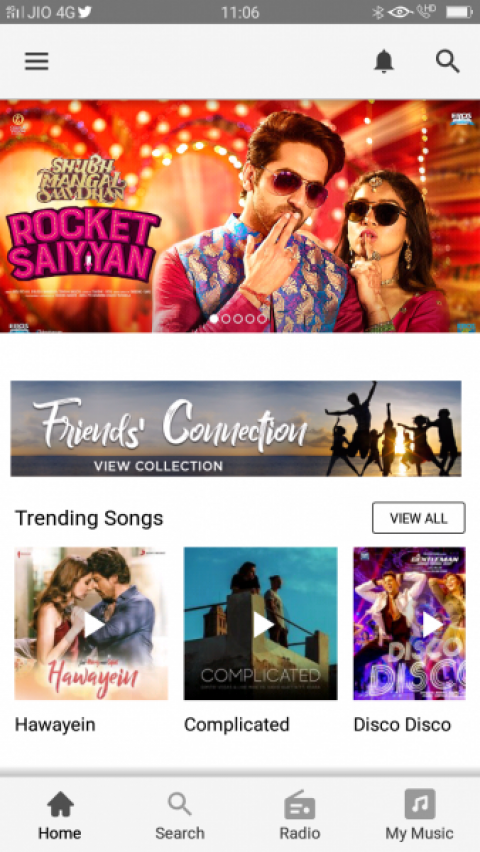Gaana App : One of the best music streaming app