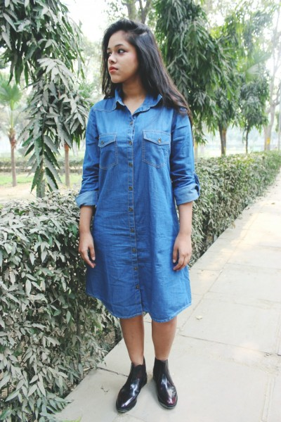 denim dress online