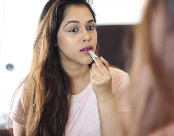 maybelline india fucshia lip color