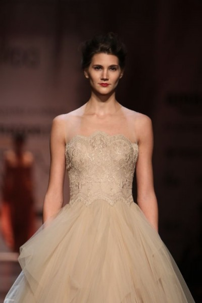 nikhil white gown